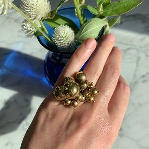 Gold bauble ring.